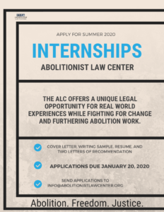 Internships With The Abolitionist Law Center Summer And